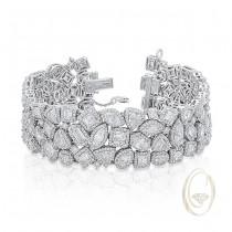 18K FANCY-SHAPE DIAMOND BRACELET