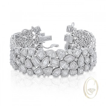 18K FANCY-SHAPE DIAMOND BRACELET